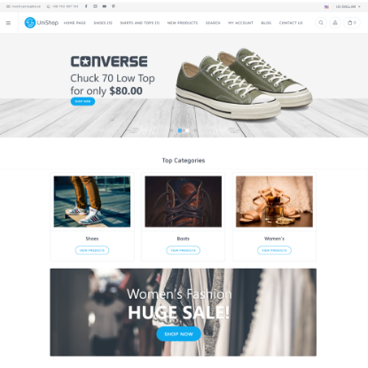 Picture of Unishop theme for nopCommerce (Wrapbootstrap)